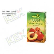 Hello 100% üdítőital alma-őszibarack ízű 250ml