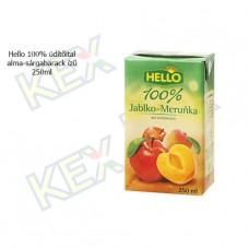 Hello 100% üdítőital alma-sárgabarack ízű 250ml