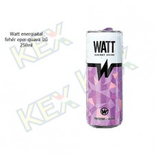 Watt energiaital fehér eper-guava ízű 250ml