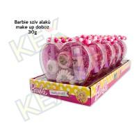 Barbie szív alakú make up doboz 30g