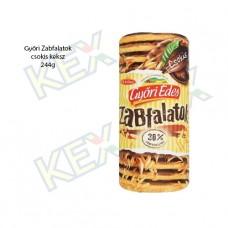 Győri Édes Zabfalatok keksz csokoládé ízű 244g