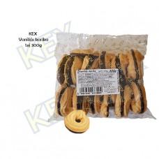 KEX Vaníliás karika tejcsokoládés 300g