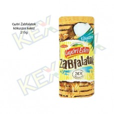 Győri Édes Zabfalatok keksz kókusz ízű 215g