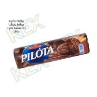 Győri Pilóta töltött keksz tripla kakaó ízű 180g