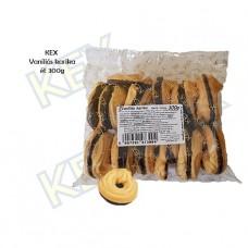 KEX Vaníliás karika étcsokoládés 300g