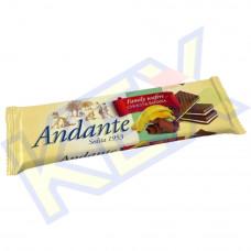 Andante töltött ostya csokoládé-banán ízű 130g