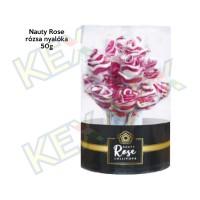 Nauty Rose rózsa nyalóka hengerben 50g