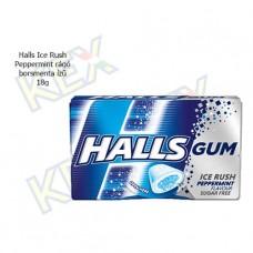 Halls Ice Rush Peppermint rágó borsmenta ízű 18g
