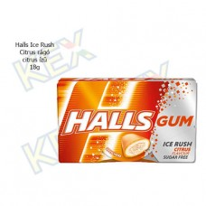 Halls Ice Rush Citrus rágó citrus ízű 18g