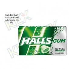 Halls Ice Rush Spearmint rágó fodormenta ízű 18g