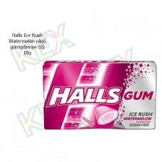 Halls Ice Rush Watermelon rágó görögdinnye ízű 18g