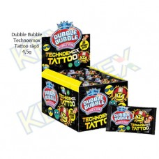 Dubble Bubble Technoemox Tattoo rágó 4,5g