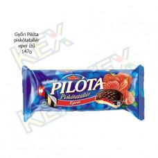 Győri Pilóta piskótatallér eper ízű 147g
