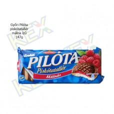 Győri Pilóta piskótatallér málna ízű 147g