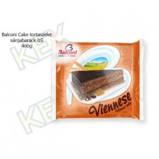 Balconi Cake tortaszelet sárgabarack ízű 400g