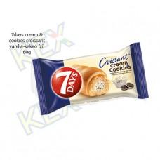 7days cream & cookies croissant vanília-kakaó ízű 60g