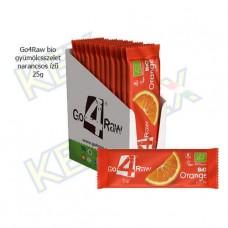 Go4Raw bio gyümölcsszelet narancs ízű 25g