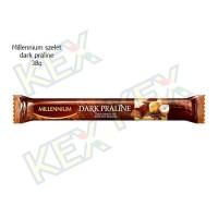 Millennium szelet dark praline 38g