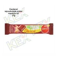 Canderel tejcsokoládé szelet  mandula ízű 27g