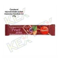 Canderel tejcsokoládé szelet  mazsola-mandula ízű 27g
