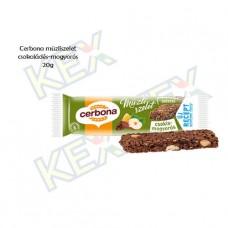 Cerbona csokis-mogyorós müzliszelet 20g
